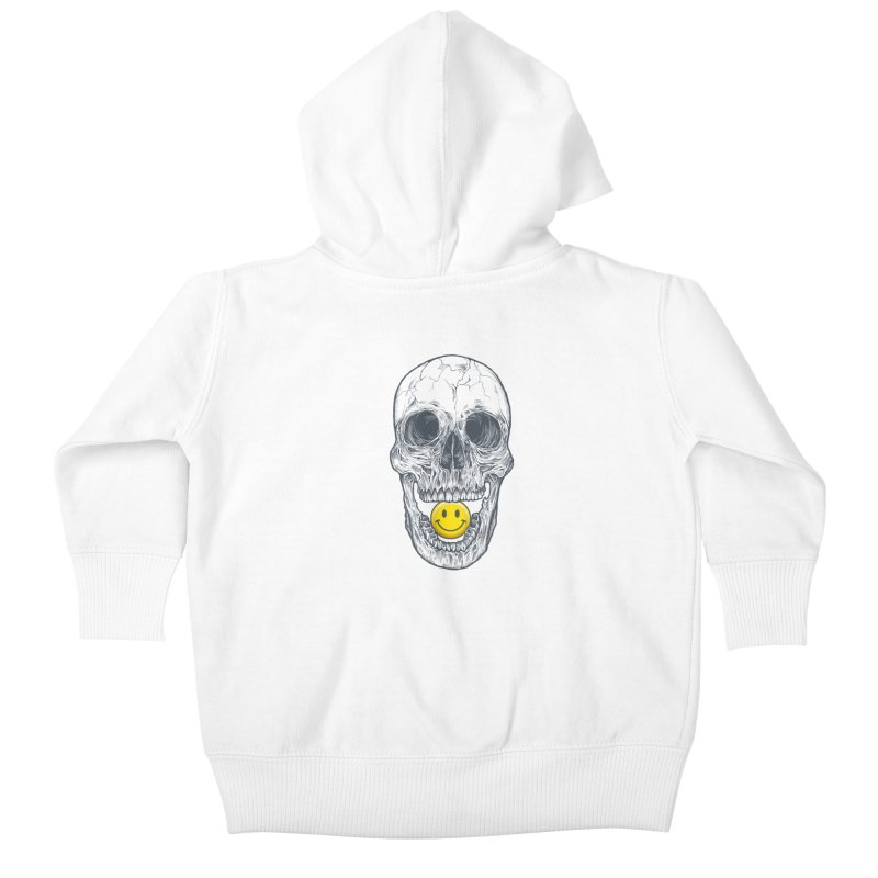 Have A Nice Day Skull Kids Baby Zip-Up Hoody by rcaldwell's Shop