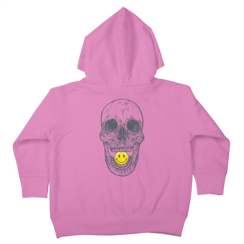 Have A Nice Day Skull Kids Toddler Zip-Up Hoody by rcaldwell's Shop