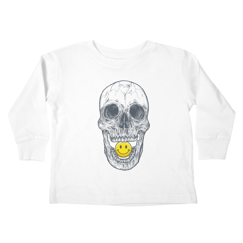 Have A Nice Day Skull Kids Toddler Longsleeve T-Shirt by rcaldwell's Shop