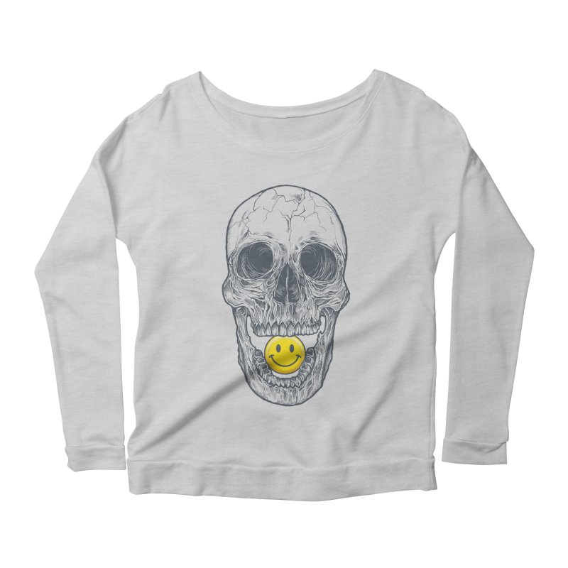 Have A Nice Day Skull Women's Longsleeve Scoopneck  by rcaldwell's Shop
