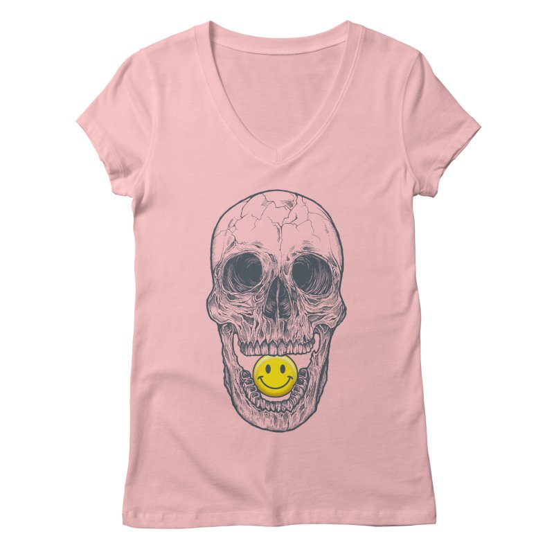 Have A Nice Day Skull Women's V-Neck by rcaldwell's Shop