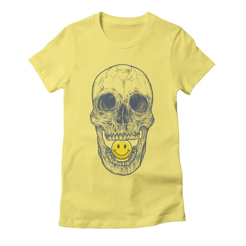 Have A Nice Day Skull Women's Fitted T-Shirt by rcaldwell's Shop