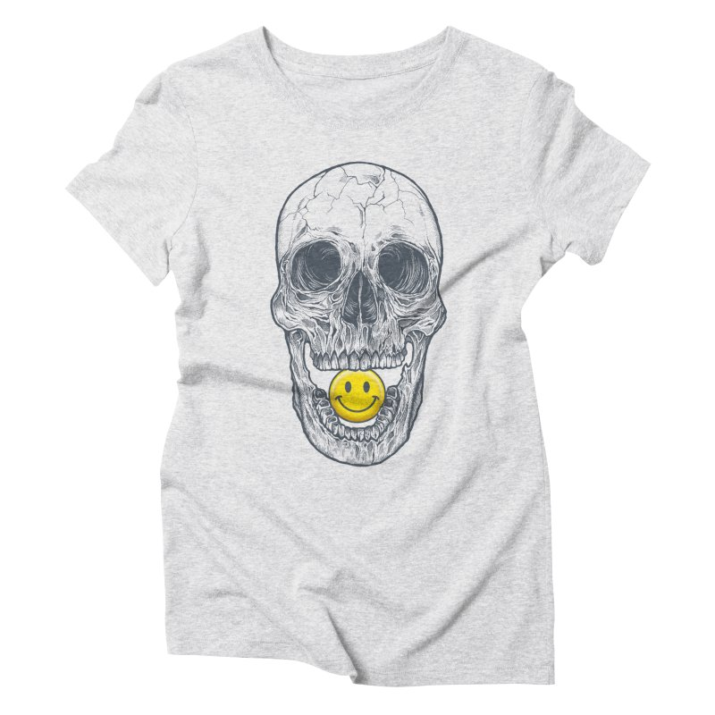 Have A Nice Day Skull Women's Triblend T-Shirt by rcaldwell's Shop