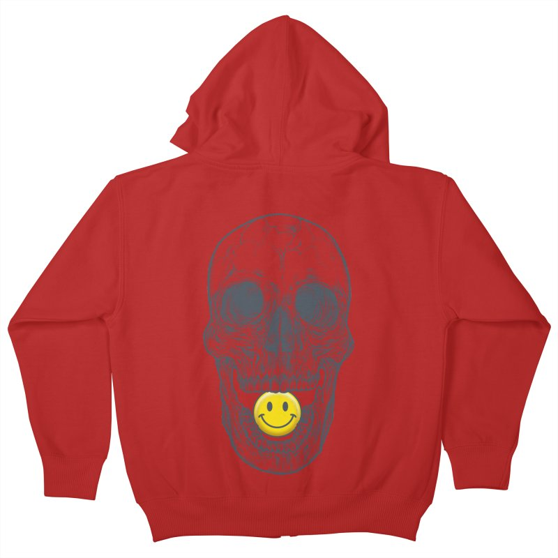 Have A Nice Day Skull Kids Zip-Up Hoody by rcaldwell's Shop