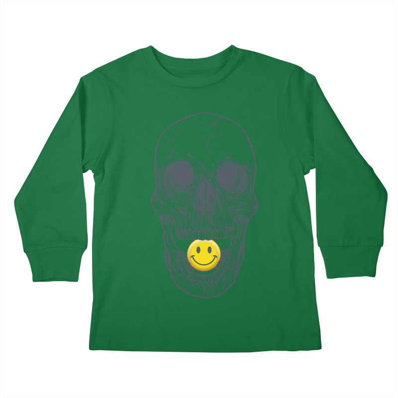 Have A Nice Day Skull Kids Longsleeve T-Shirt by rcaldwell's Shop