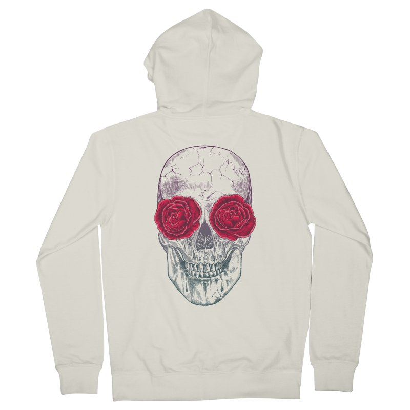 Skull and Roses Men's Zip-Up Hoody by rcaldwell's Shop