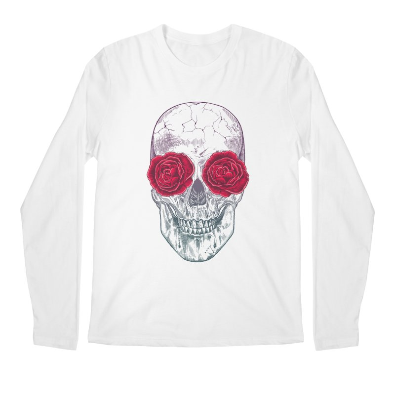 Skull and Roses Men's Longsleeve T-Shirt by rcaldwell's Shop