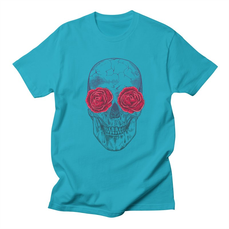 Skull and Roses Men's T-shirt by rcaldwell's Shop