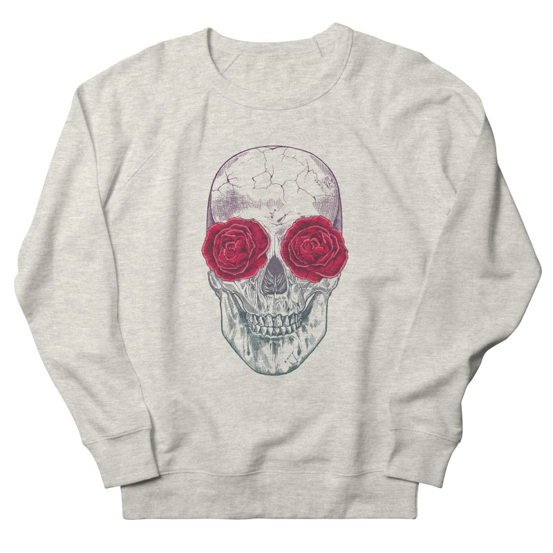 Skull and Roses Men's Sweatshirt by rcaldwell's Shop