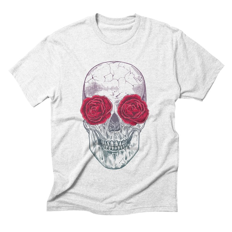Skull and Roses Men's Triblend T-shirt by rcaldwell's Shop