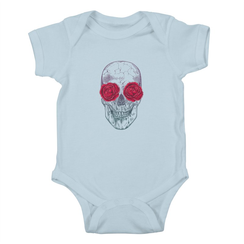 Skull and Roses Kids Baby Bodysuit by rcaldwell's Shop