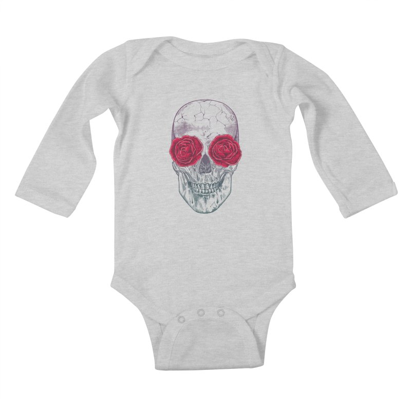 Skull and Roses Kids Baby Longsleeve Bodysuit by rcaldwell's Shop
