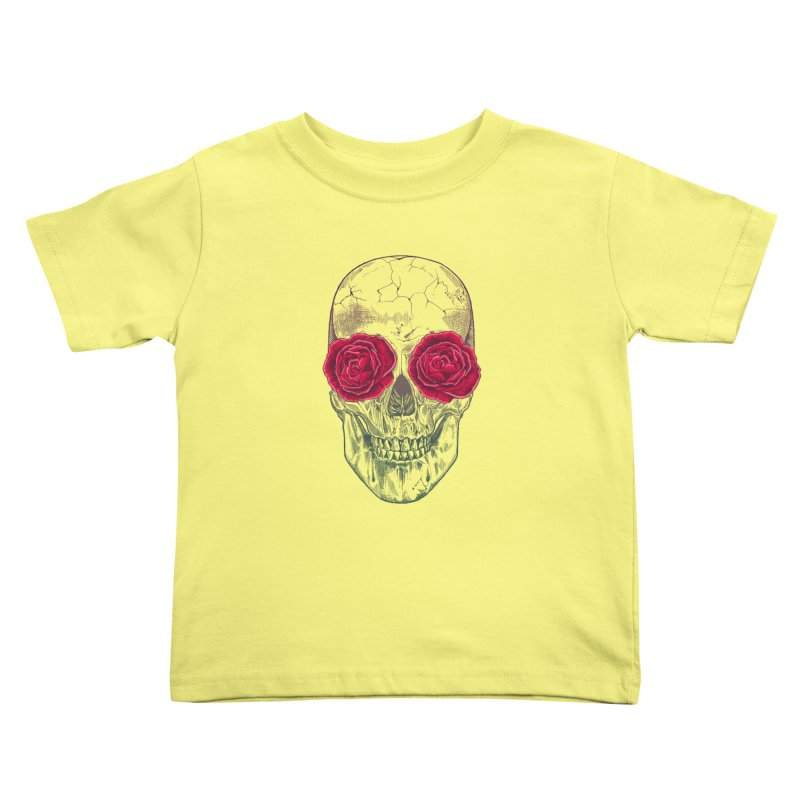 Skull and Roses Kids Toddler T-Shirt by rcaldwell's Shop