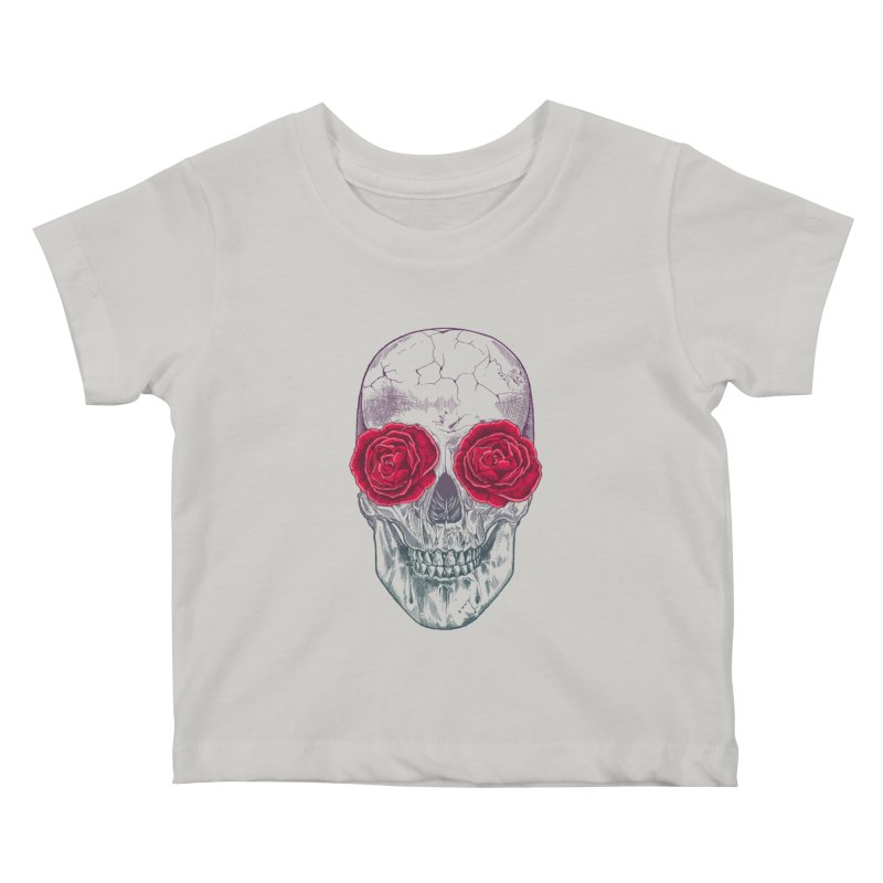 Skull and Roses Kids Baby T-Shirt by rcaldwell's Shop