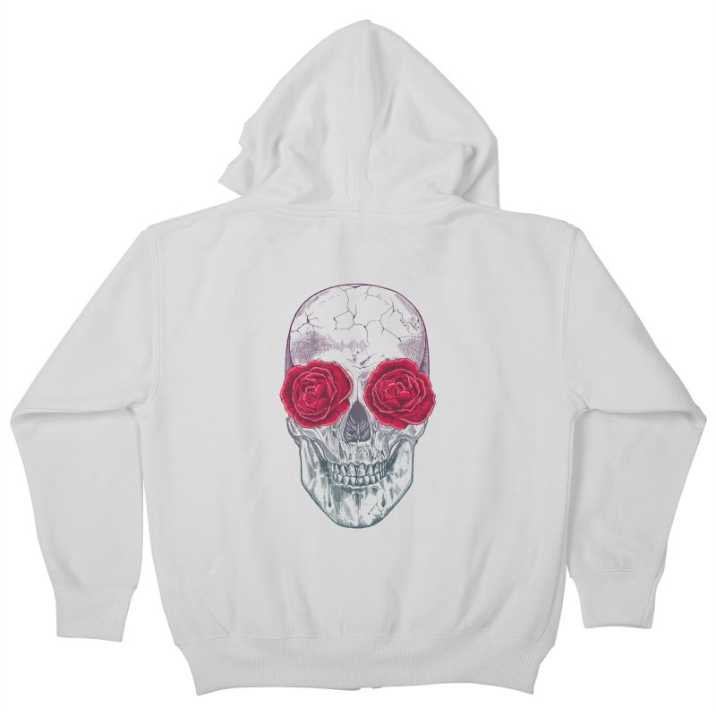 Skull and Roses Kids Zip-Up Hoody by rcaldwell's Shop