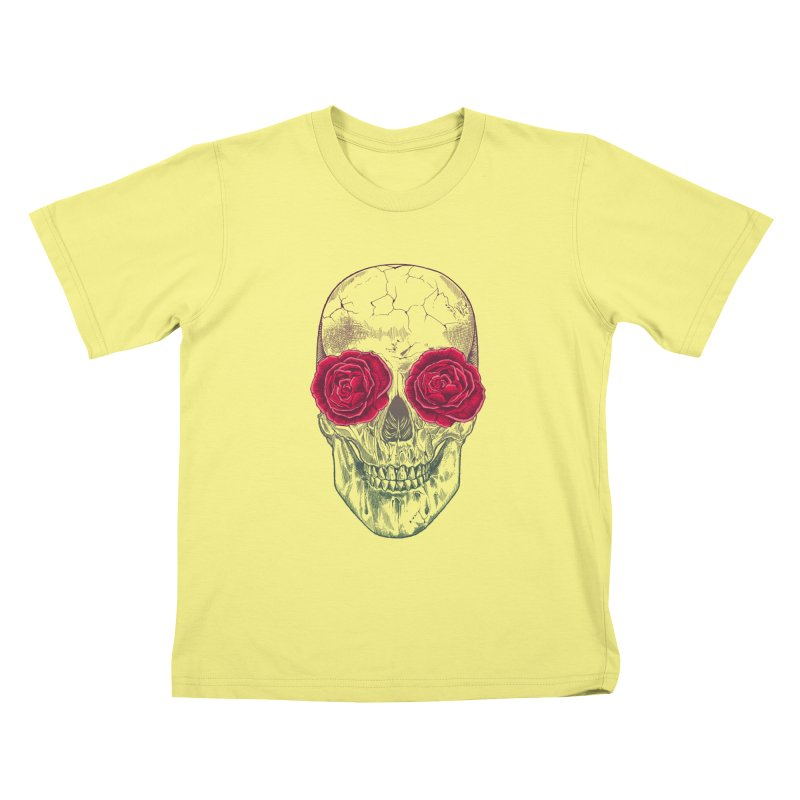 Skull and Roses Kids T-shirt by rcaldwell's Shop