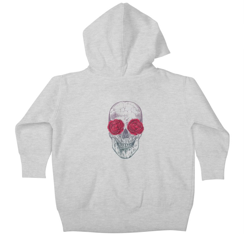 Skull and Roses Kids Baby Zip-Up Hoody by rcaldwell's Shop