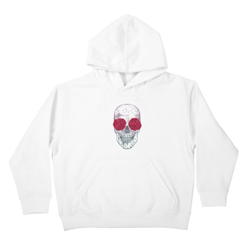 Skull and Roses Kids Pullover Hoody by rcaldwell's Shop