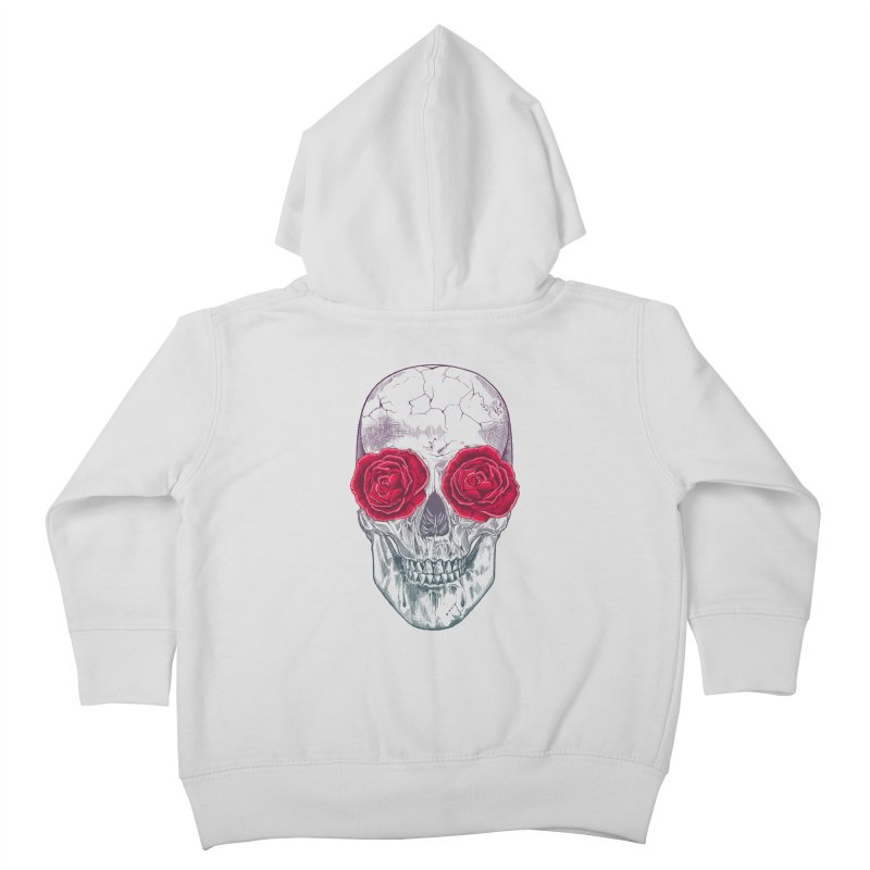 Skull and Roses Kids Toddler Zip-Up Hoody by rcaldwell's Shop