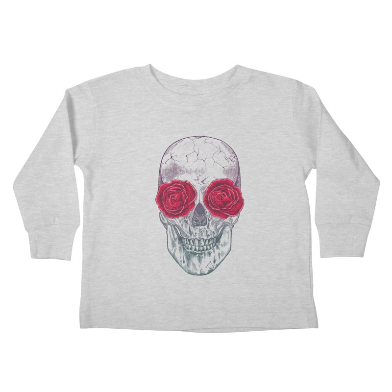 Skull and Roses Kids Toddler Longsleeve T-Shirt by rcaldwell's Shop