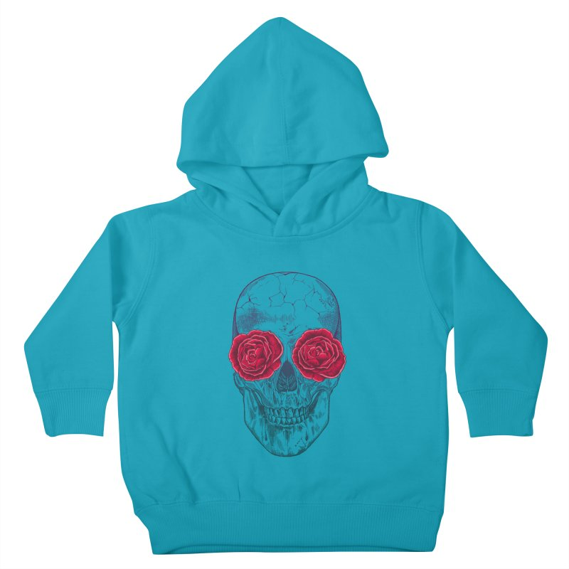 Skull and Roses Kids Toddler Pullover Hoody by rcaldwell's Shop