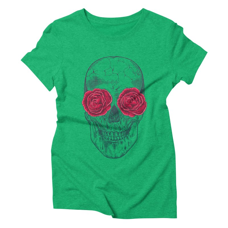 Skull and Roses Women's Triblend T-Shirt by rcaldwell's Shop