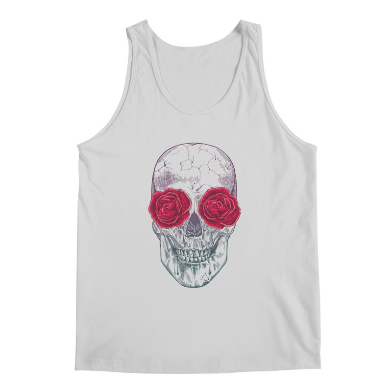 Skull and Roses Men's Tank by rcaldwell's Shop