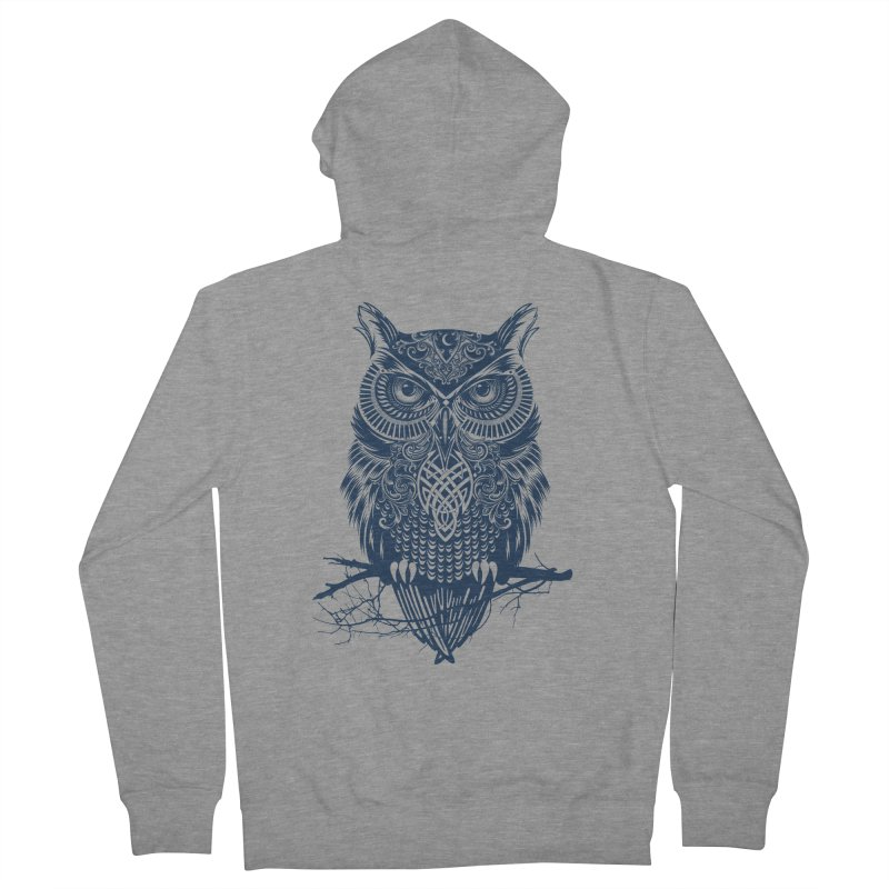 Warrior Owl Women's Zip-Up Hoody by rcaldwell's Shop