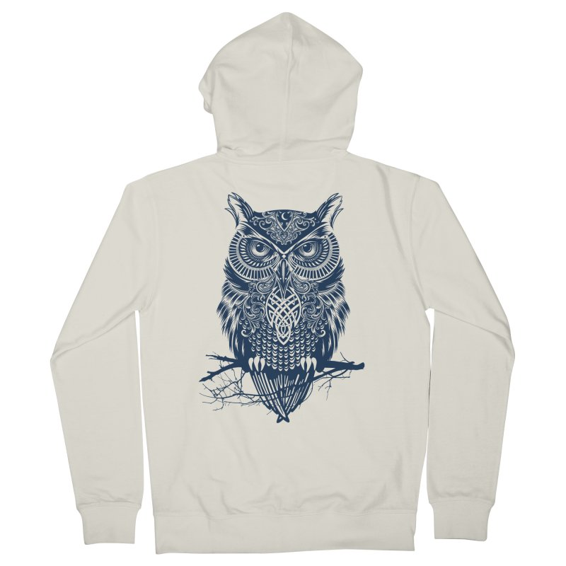 Warrior Owl Men's Zip-Up Hoody by rcaldwell's Shop