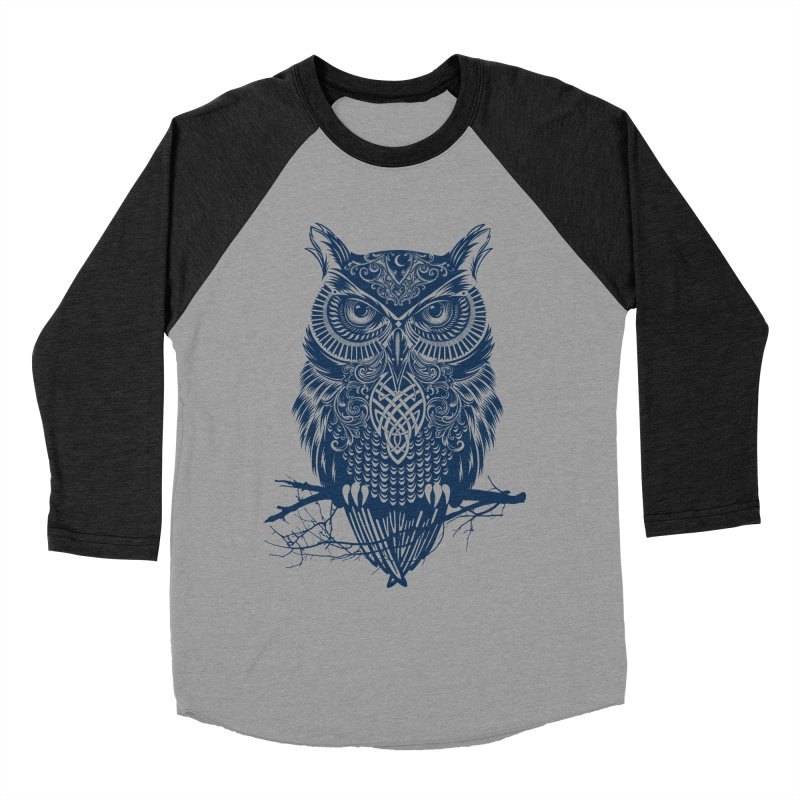 Warrior Owl Men's Baseball Triblend T-Shirt by rcaldwell's Shop