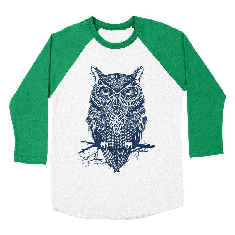 Warrior Owl Men's Baseball Triblend T-Shirt by rcaldwell's Shop
