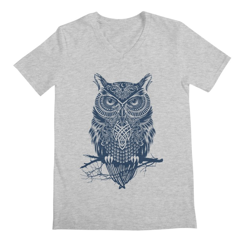 Warrior Owl Men's V-Neck by rcaldwell's Shop