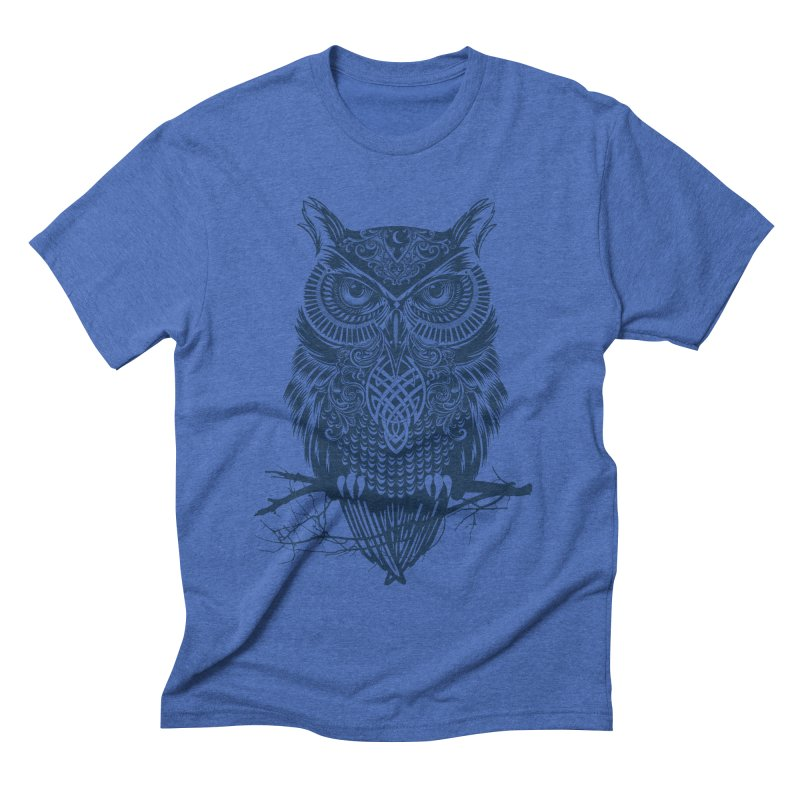 Warrior Owl Men's Triblend T-shirt by rcaldwell's Shop