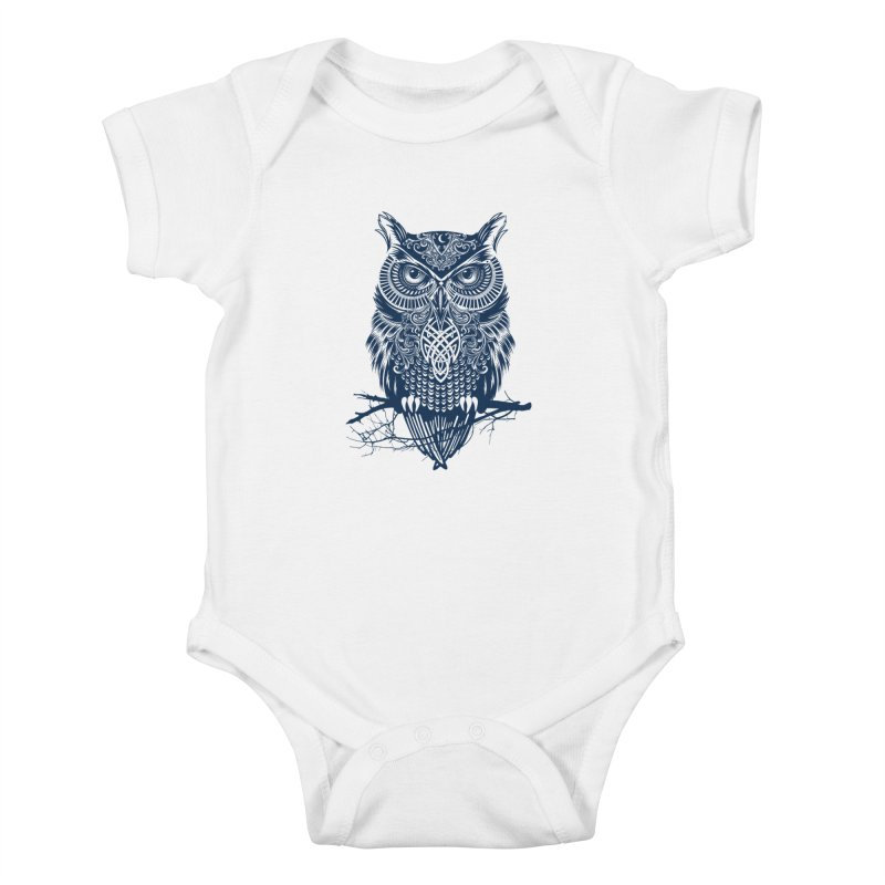 Warrior Owl Kids Baby Bodysuit by rcaldwell's Shop