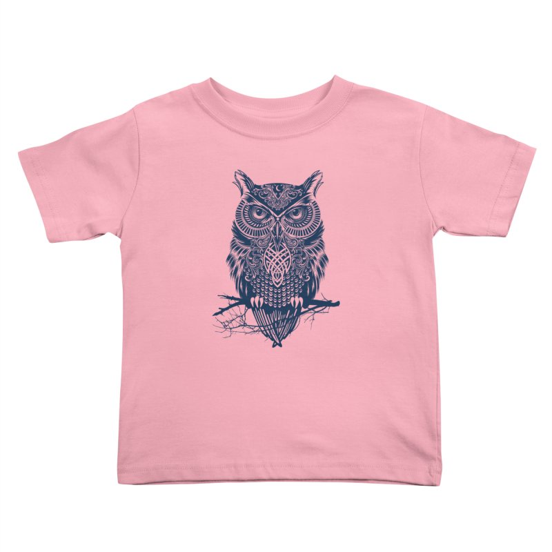 Warrior Owl Kids Toddler T-Shirt by rcaldwell's Shop