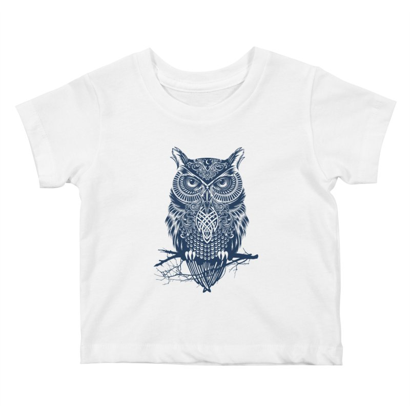 Warrior Owl Kids Baby T-Shirt by rcaldwell's Shop