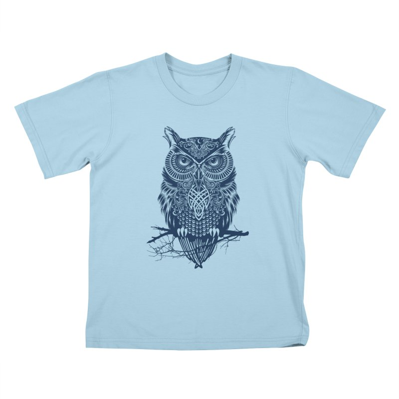 Warrior Owl Kids T-shirt by rcaldwell's Shop