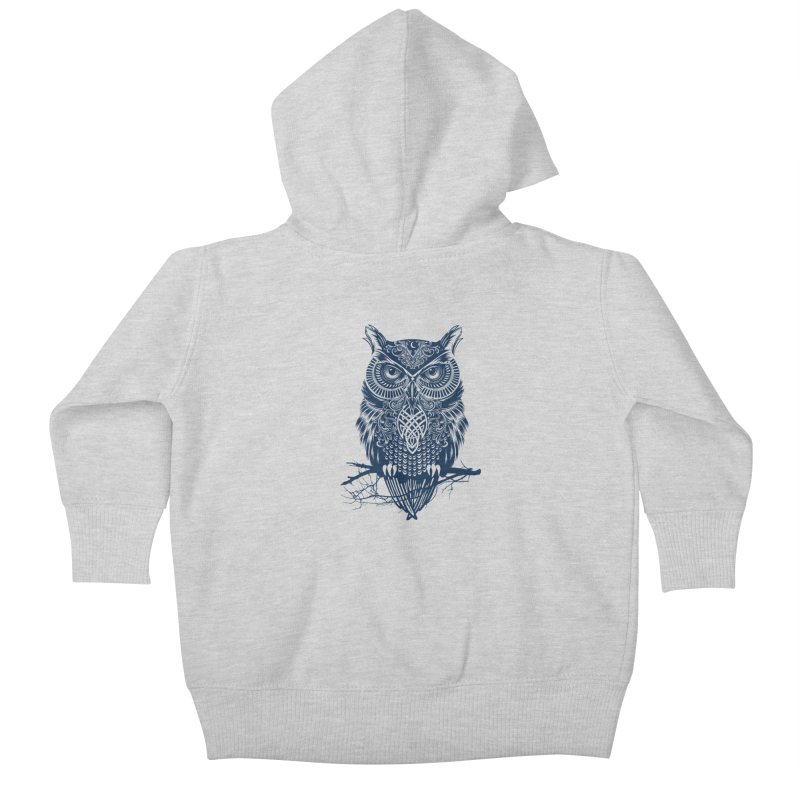Warrior Owl Kids Baby Zip-Up Hoody by rcaldwell's Shop