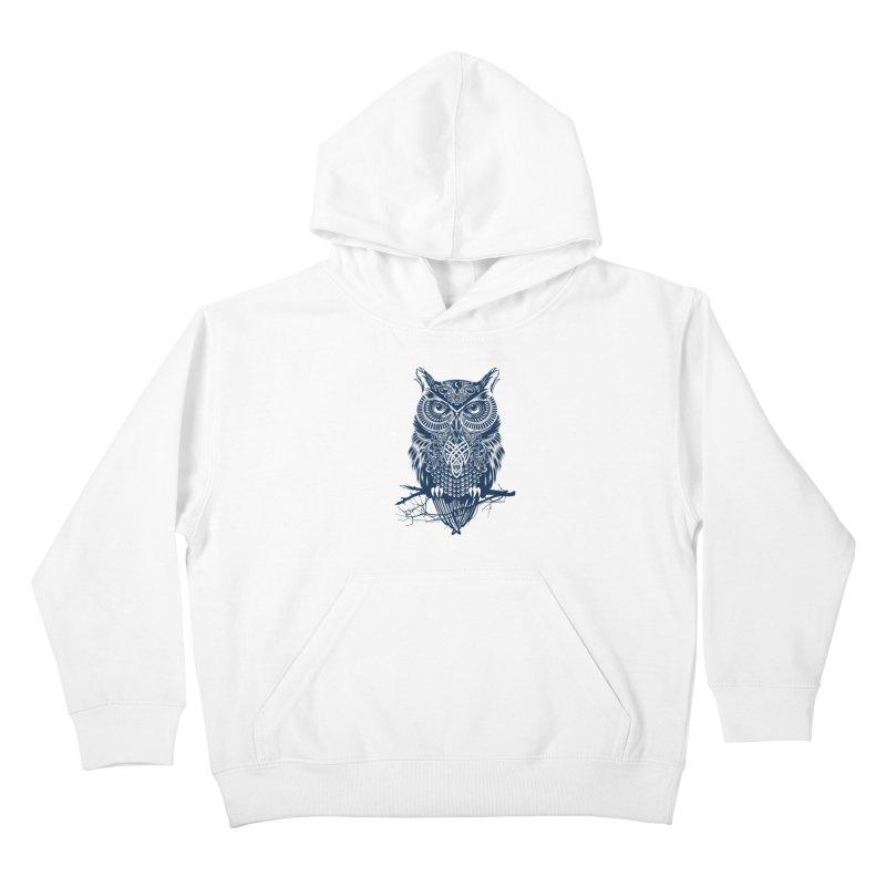 Warrior Owl Kids Pullover Hoody by rcaldwell's Shop