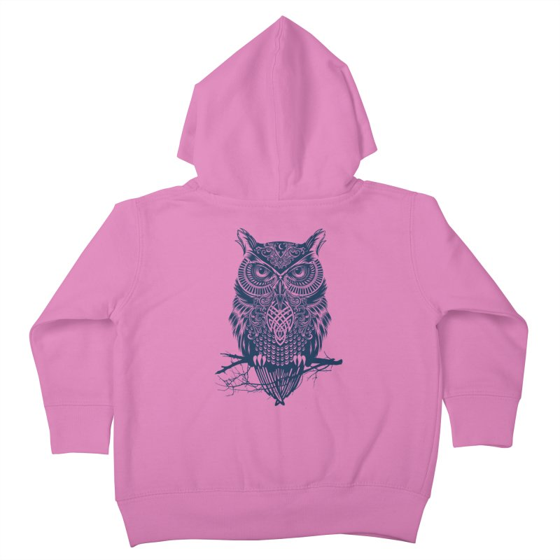 Warrior Owl Kids Toddler Zip-Up Hoody by rcaldwell's Shop
