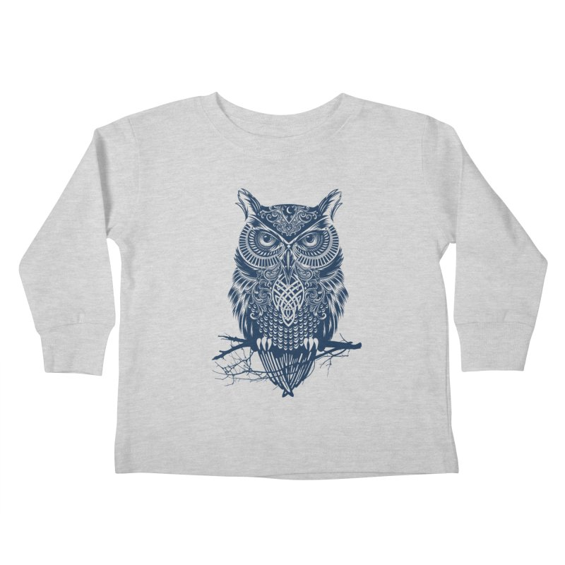 Warrior Owl Kids Toddler Longsleeve T-Shirt by rcaldwell's Shop