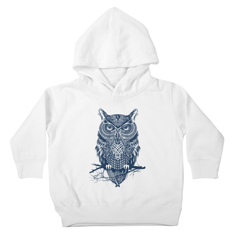 Warrior Owl Kids Toddler Pullover Hoody by rcaldwell's Shop