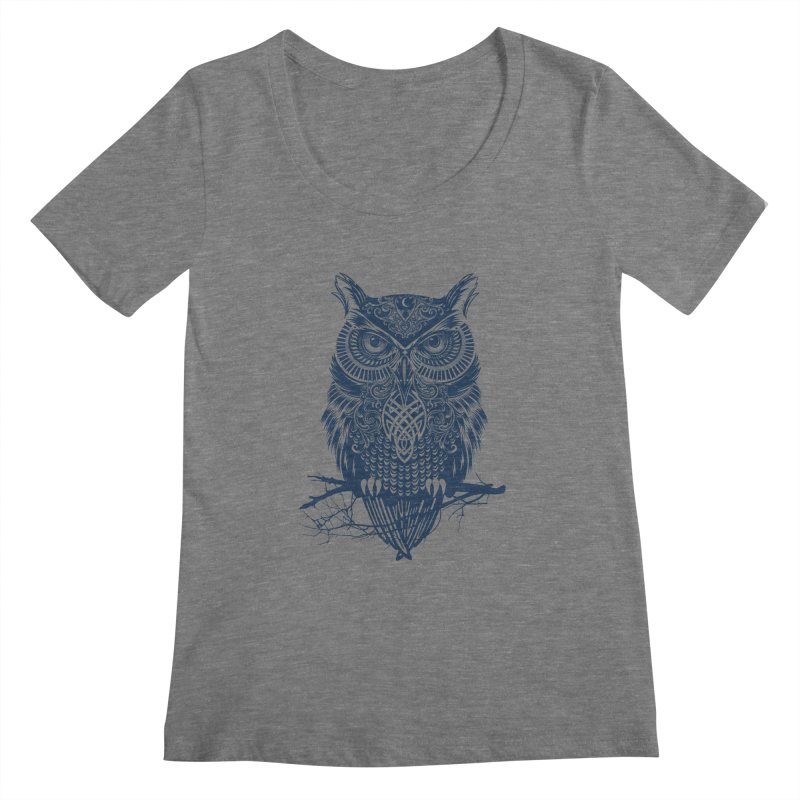 Warrior Owl Women's Scoopneck by rcaldwell's Shop