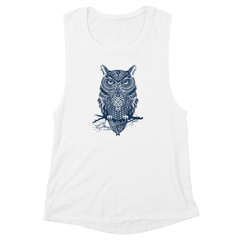 Warrior Owl Women's Muscle Tank by rcaldwell's Shop