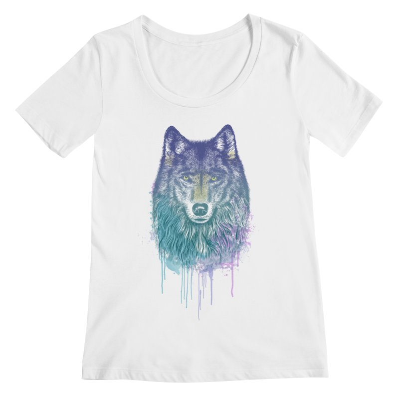 I Dream of Wolf Women's Scoopneck by rcaldwell's Shop