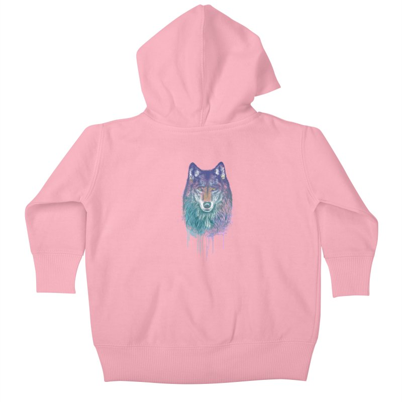 I Dream of Wolf Kids Baby Zip-Up Hoody by rcaldwell's Shop
