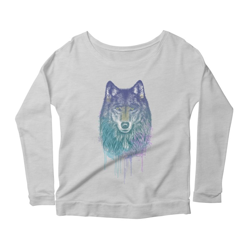 I Dream of Wolf Women's Longsleeve Scoopneck  by rcaldwell's Shop