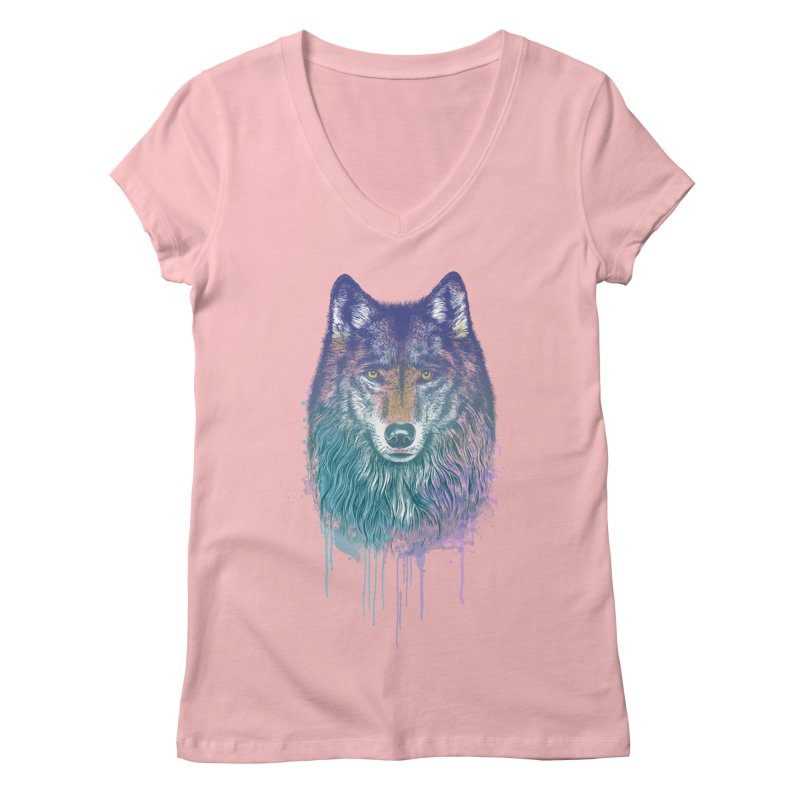 I Dream of Wolf Women's V-Neck by rcaldwell's Shop