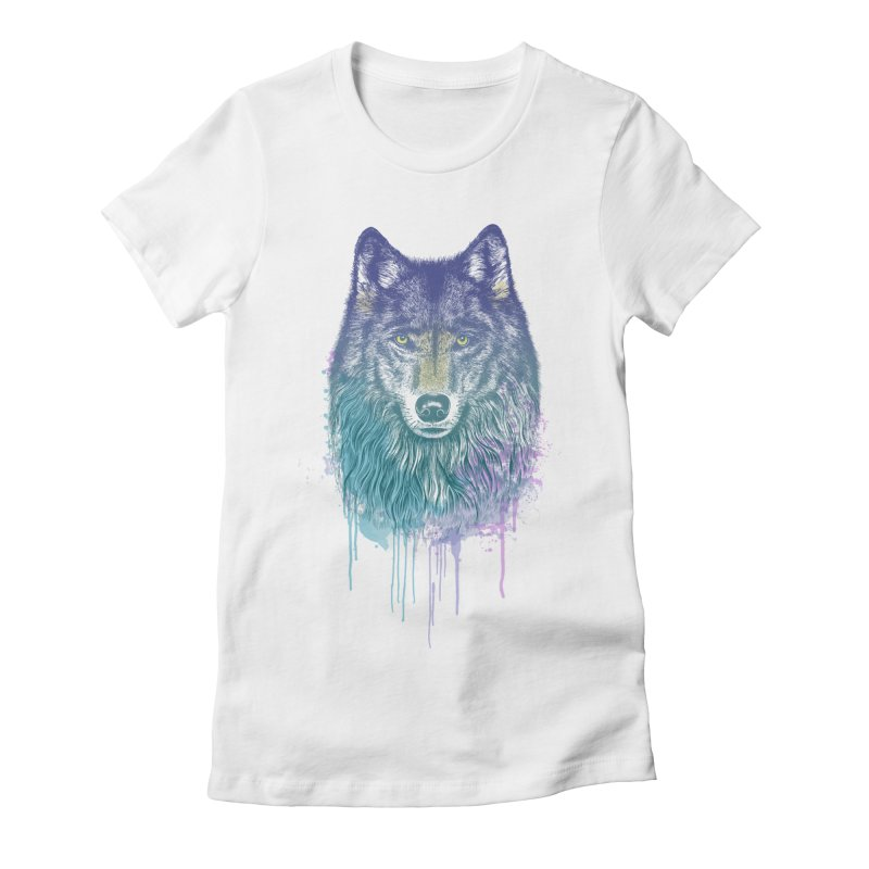 I Dream of Wolf Women's Fitted T-Shirt by rcaldwell's Shop