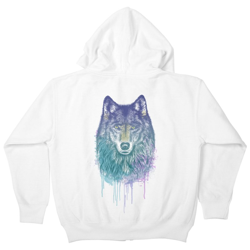 I Dream of Wolf Kids Zip-Up Hoody by rcaldwell's Shop